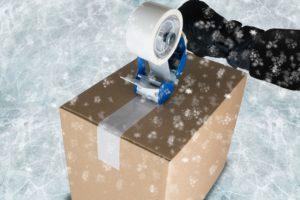 Freezer tape - Spezialklebeband für extrem kalte Temperaturen bei Verarbeitung und Lagerung